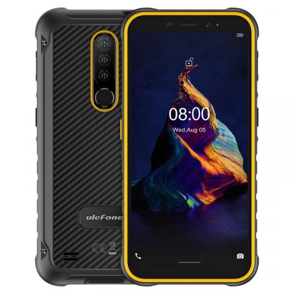 Telefon mobil Ulefone Armor X8 Orange, 4G, IPS 5.7 , 4GB RAM, 64GB ROM, Android 10, Helio A25 OctaCore, NFC, 5080mAh, Dual SIM