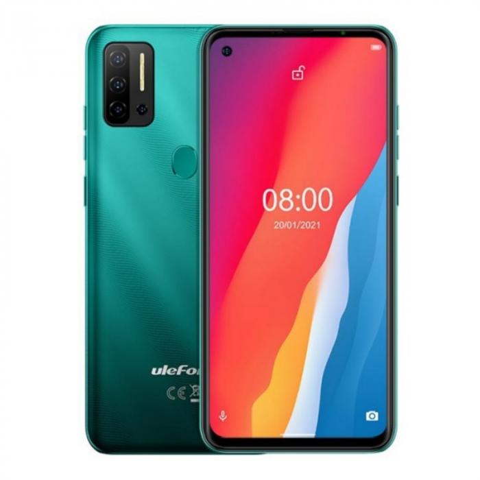 Telefon mobil Ulefone Note 11P Verde, 4G, 6.55 FullView perforat, 8GB RAM, 128GB ROM, Android 11, Helio P60 OctaCore, 4400mAh, Dual SIM imagine dualstore.ro 2021
