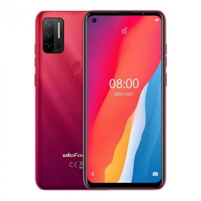 Telefon mobil Ulefone Note 11P Rosu, 4G, 6.55 FullView perforat, 8GB RAM, 128GB ROM, Android 11, Helio P60 OctaCore, 4400mAh, Dual SIM imagine dualstore.ro 2021
