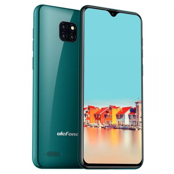 Telefon mobil Ulefone Note 7, IPS 6.1inch, 1GB RAM, 16GB ROM, Android 8.1 GO, MT6580 QuadCore, 3500mAh, Dual SIM, Verde 3