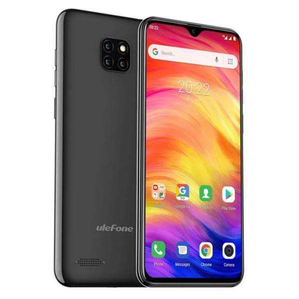 Telefon mobil Ulefone Note 7, IPS 6.1inch, 1GB RAM, 16GB ROM, Android 8.1 GO, MT6580 QuadCore, 3500mAh, Dual SIM, Negru 3