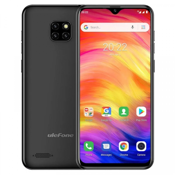 Telefon mobil Ulefone Note 7, IPS 6.1inch, 1GB RAM, 16GB ROM, Android 8.1 GO, MT6580 QuadCore, 3500mAh, Dual SIM, Negru 0