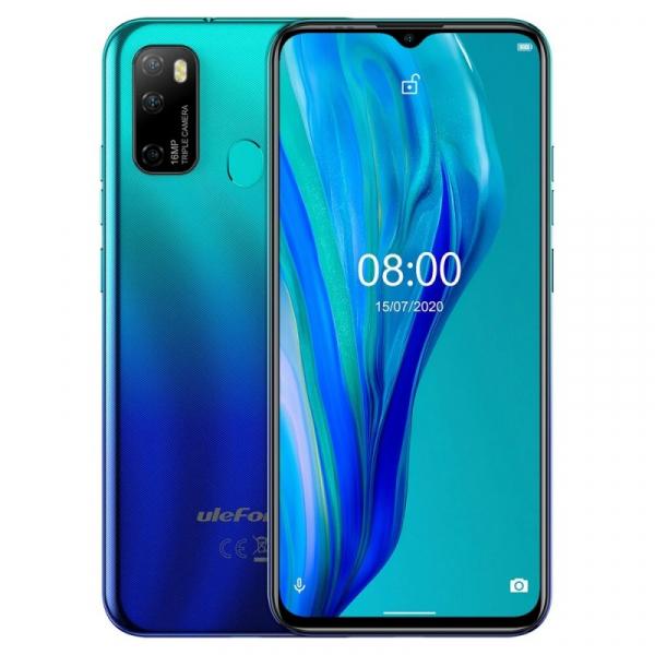 Telefon mobil Ulefone Note 9P, 4G, 6.52 Waterdrop, 4GB RAM, 64GB ROM, Android 10, Helio P22 OctaCore, 4500mAh, Dual SIM, Albastru imagine