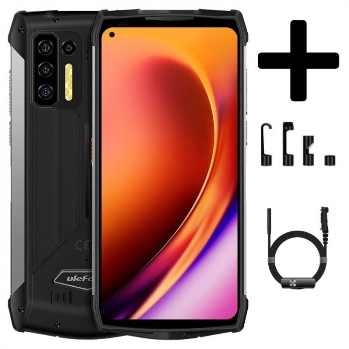 Pachet telefon mobil Ulefone Power Armor 13 8/256 Negru + Endoscop Ulefone E1 [0]