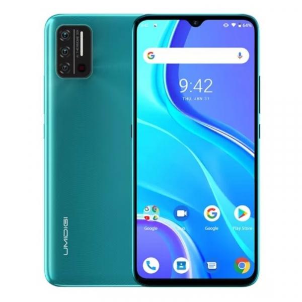 Telefon mobil UMIDIGI A7S Verde, 4G, Termometru non-contact, 6.53 HD+, 2GB RAM, 32GB ROM, Android 10 GO, QuadCore, Dual SIM, 4150mAh