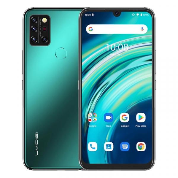 Telefon mobil UMIDIGI A9 Pro Verde, 4G, Termometru non-contact, 6.3 FHD+, 6GB RAM, 128GB ROM, Android 10, Helio P60, Dual SIM, 4150mAh