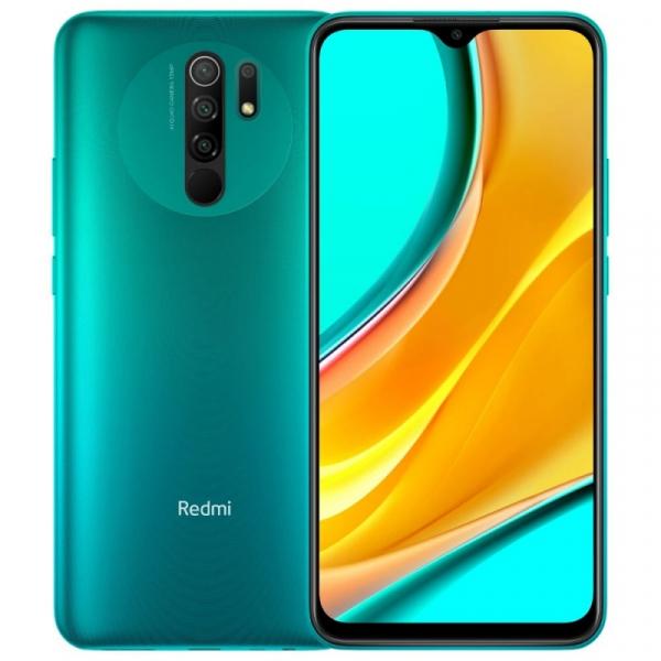 Telefon mobil Xiaomi Redmi 9, 4G, IPS 6.53 DotDisplay, 3GB RAM, 32GB ROM, MIUI v12, Helio G80 OctaCore, NFC, 5020mAh, Dual SIM, EU, Verde imagine dualstore.ro 2021