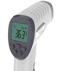 Termometru digital cu infrarosu CLOC SK-T008 pentru adulti si copii, Display iluminat, Masurare rapida 1s fara contact 1
