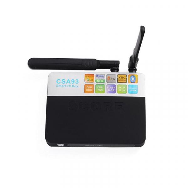 TV BOX CSA93 4K, KODI, Amlogic S912 Octa Core 64 biti, 2GB RAM 16 GB ROM, Wireless dual band, Bluetooth, DLNA, Airplay, Miracast 2