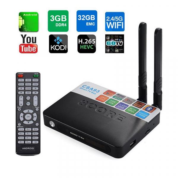 TV BOX CSA93 PRO 4K, KODI, Amlogic S912 Octa Core 64 biti, 3GB RAM 32 GB ROM, Wireless dual band, BT, DLNA, Airplay, Miracast 0