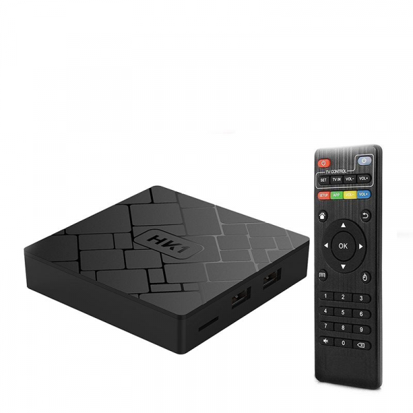TV BOX HK1 4K, Android 7.1.2, 2GB RAM 16GB ROM, Kodi 18, S905W Quad Core, Wifi, Lan, Slot Card 1
