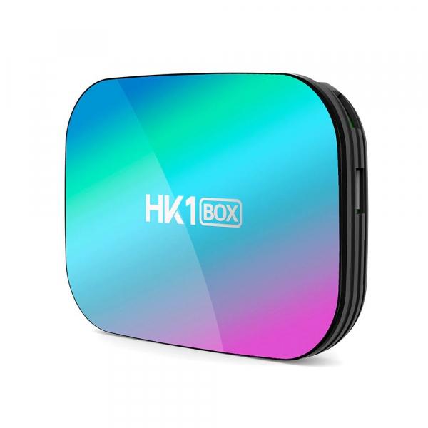 TV Box HK1 BOX Smart Media Player, 8K, RAM 4GB, ROM 32GB, Amlogic S905X3, Android 9.0, Slot Card, Quad Core 0