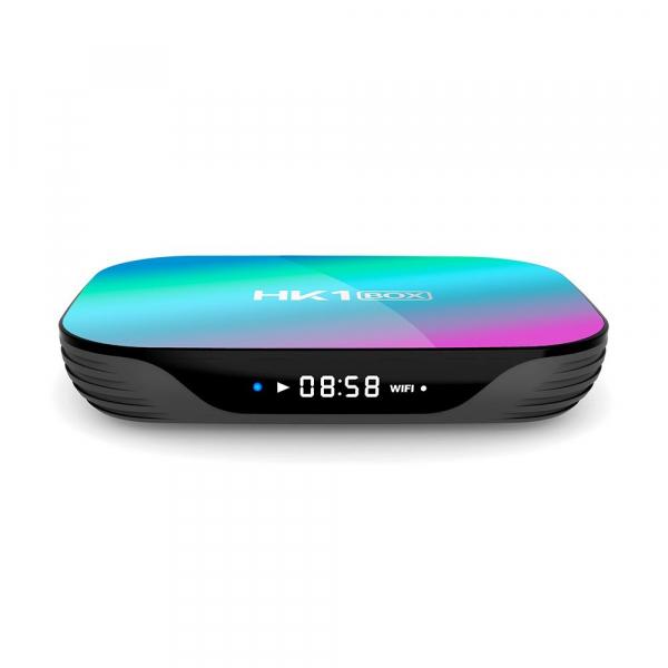 TV Box HK1 BOX Smart Media Player, 8K, RAM 4GB, ROM 32GB, Amlogic S905X3, Android 9.0, Slot Card, Quad Core 3