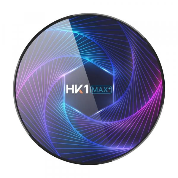 TV Box HK1 Max Plus, Android 9.0, 4GB RAM, 128GB ROM, RK3368PRO Octa Core, PowerVR G6110, Kodi 18, Wi-Fi, Bluetooth, Slot Card 0