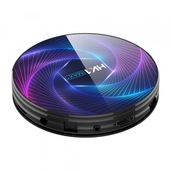 TV Box HK1 Max Plus, Android 9.0, 4GB RAM, 128GB ROM, RK3368PRO Octa Core, PowerVR G6110, Kodi 18, Wi-Fi, Bluetooth, Slot Card 1