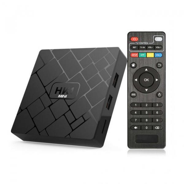 TV BOX HK1 Mini 4K, Android 8.1, 2GB RAM 16GB ROM, Kodi 18, RK3229 Quad core, Wifi, Lan, Slot Card, 4