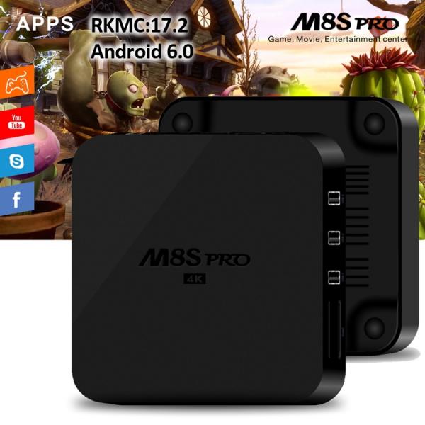 TV BOX M8S pro 4K RK3229, KODI 17 2, Android 6 0, 2GB RAM, 8GB ROM, H.264/H.265 10Bit, WIFI, LAN, HDMI, Miracast - DualStore 0
