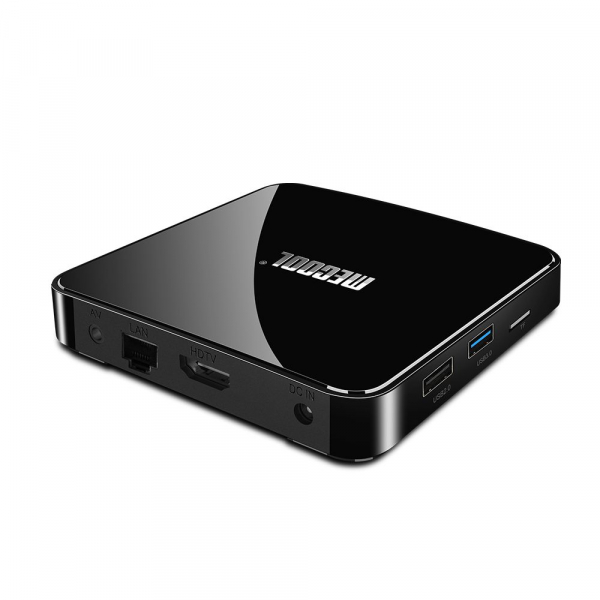 TV Box Mecool KM3 Smart Media Player, 4GB Ram, 128 GB ROM, Android 9.0, QuadCore, Control vocal 2