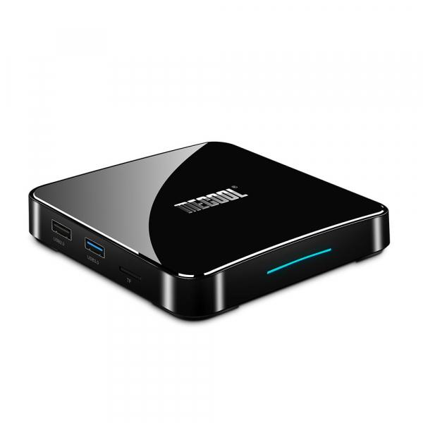 TV Box Mecool KM3 Smart Media Player, 4GB Ram, 128 GB ROM, Android 9.0, QuadCore, Control vocal 7