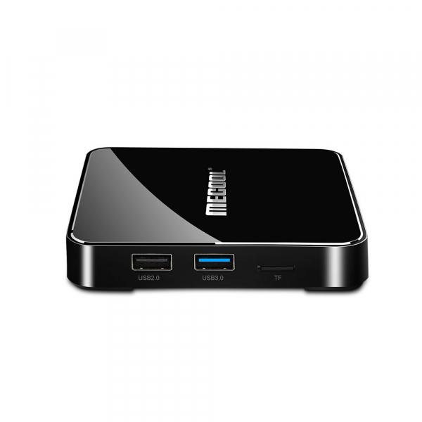 TV Box Mecool KM3 Smart Media Player, 4GB Ram, 128 GB ROM, Android 9.0, QuadCore, Control vocal 1