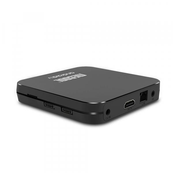 TV Box Mecool KM9 Pro Smart Media Player, 4GB Ram, 32 GB ROM, Android 9.0, QuadCore, Control vocal 3