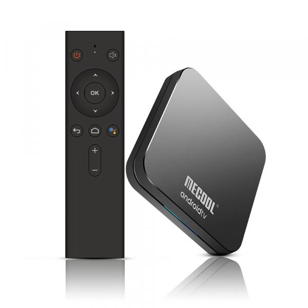 TV Box Mecool KM9 Pro Smart Media Player, 4GB Ram, 32 GB ROM, Android 9.0, QuadCore, Control vocal 12