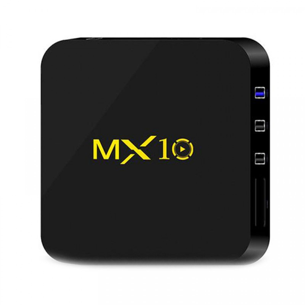 TV BOX MX10 4K, KODI 17.4 , Android 9, HDR, Quad Core RK3328, 4GB RAM DDR4  32GB ROM, WIFI, LAN, VP9, HDMI, USB, Slot Card 2