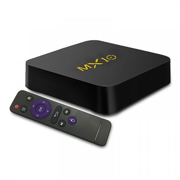 TV BOX MX10 4K, KODI 17.4 , Android 9, HDR, Quad Core RK3328, 4GB RAM DDR4  32GB ROM, WIFI, LAN, VP9, HDMI, USB, Slot Card 1
