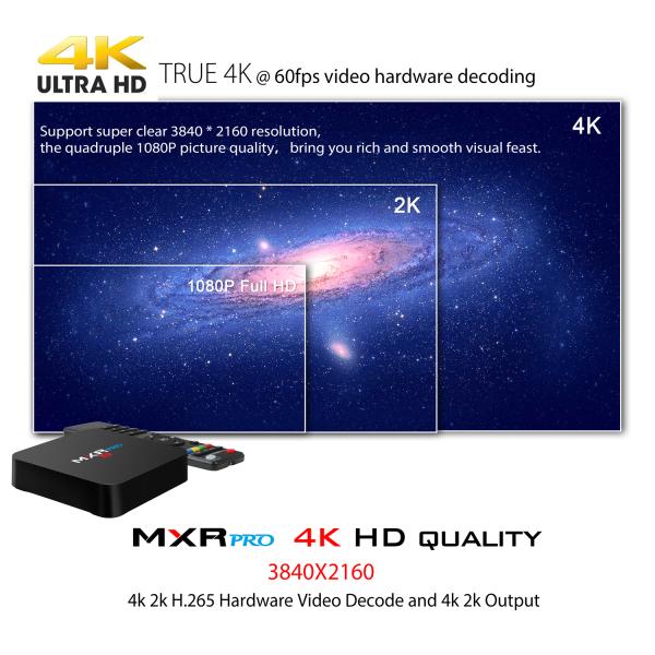Tv Box MXR Pro 4K RK3328 Quad-Core, KODI, 4GB RAM, 32GB ROM, Android 7.1 4