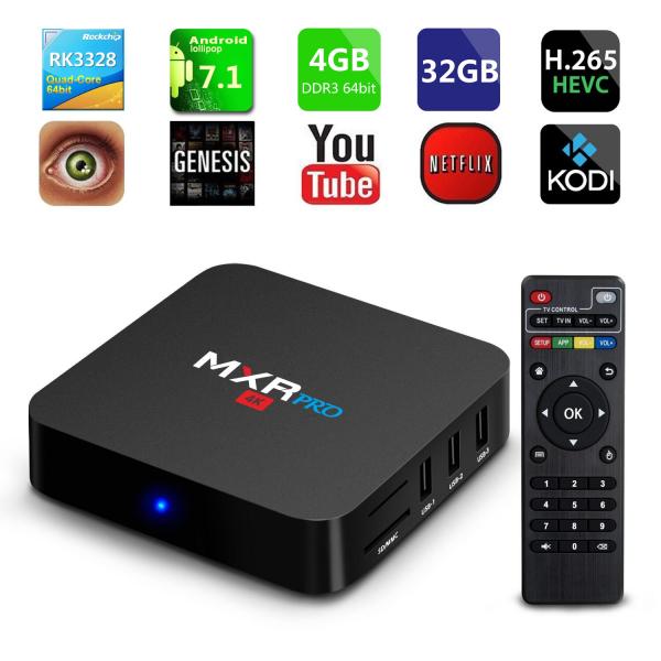 Tv Box MXR Pro 4K RK3328 Quad-Core, KODI, 4GB RAM, 32GB ROM, Android 7.1 7