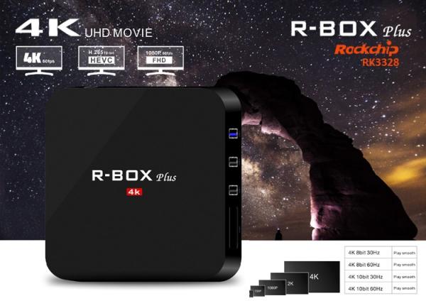 Tv box R BOX Plus KODI 18 TV BOX 4K Android 7/8.1 2GB RAM /16GB Memorie interna 0