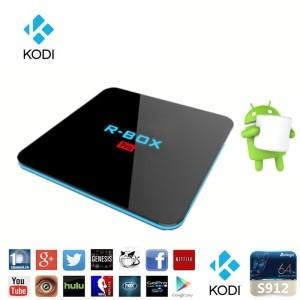 Tv Box R-BOX Pro 4K Amlogic S912, KODI, DDR4 3GB RAM, 32GB ROM, Android 7.1 1