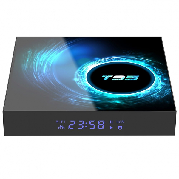 TV Box T95, 6K, Android 10.0, 4GB RAM, 64GB ROM, H616 Quad Core, Mali-G31, HDR 10, Kodi 18.1, WiFi, Slot card 0