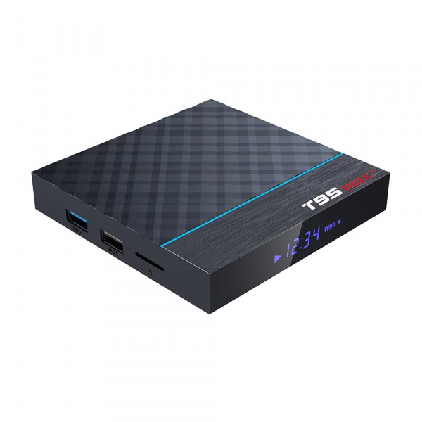 TV Box T95 Max Plus, 8K, 4GB RAM, 32GB ROM, Android 9, S905X3 Quad Core, ARM G31 MP2, Wi-Fi, Bluetooth, USB 3, Slot card 3