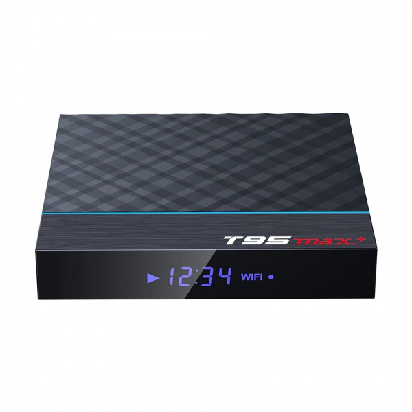 TV Box T95 Max Plus, 8K, 4GB RAM, 32GB ROM, Android 9, S905X3 Quad Core, ARM G31 MP2, Wi-Fi, Bluetooth, USB 3, Slot card 1
