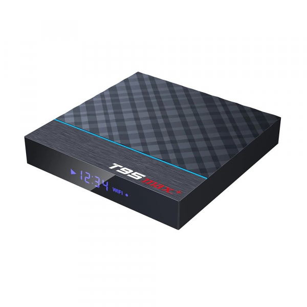 TV Box T95 Max Plus, 8K, 4GB RAM, 32GB ROM, Android 9, S905X3 Quad Core, ARM G31 MP2, Wi-Fi, Bluetooth, USB 3, Slot card 2
