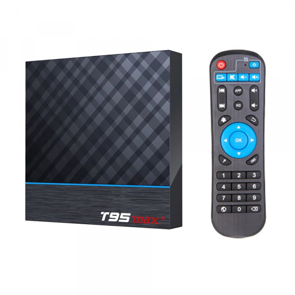 TV Box T95 Max Plus, 8K, 4GB RAM, 64GB ROM, Android 9, S905X3 Quad Core, ARM G31 MP2, Wi-Fi, Bluetooth, USB 3, Slot card imagine