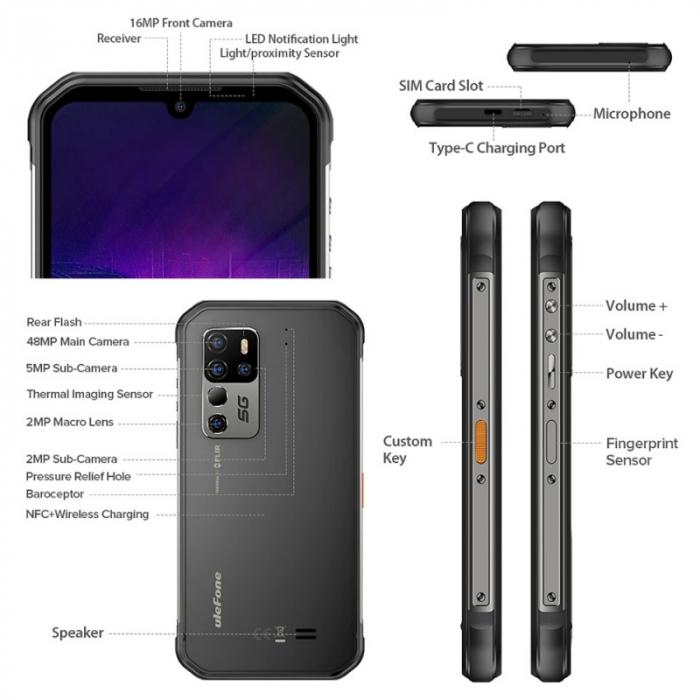 Telefon mobil Ulefone Armor 11T 8/256 Negru [3]