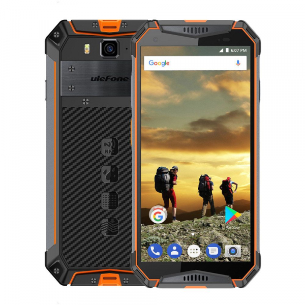 Telefon mobil Ulefone Armor 3 Waterproof Android 8.1 OctaCore FHD 4GB RAM 64GB ROM NFC 1