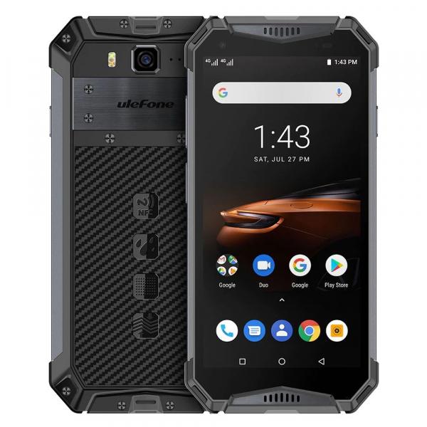 """Telefon mobil Ulefone Armor 3W, IPS 5.7"""", Android 9, 6GB RAM, 64GB ROM, MediaTek Helio P70, ARM Mali-G72 MP3, Octa-Core, Dual-SIM, 10300mAh 0"""