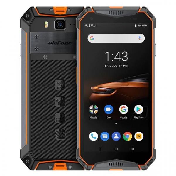 """Telefon mobil Ulefone Armor 3W, IPS 5.7"""", Android 9, 6GB RAM, 64GB ROM, MediaTek Helio P70, ARM Mali-G72 MP3, Octa-Core, Dual-SIM, 10300mAh 6"""