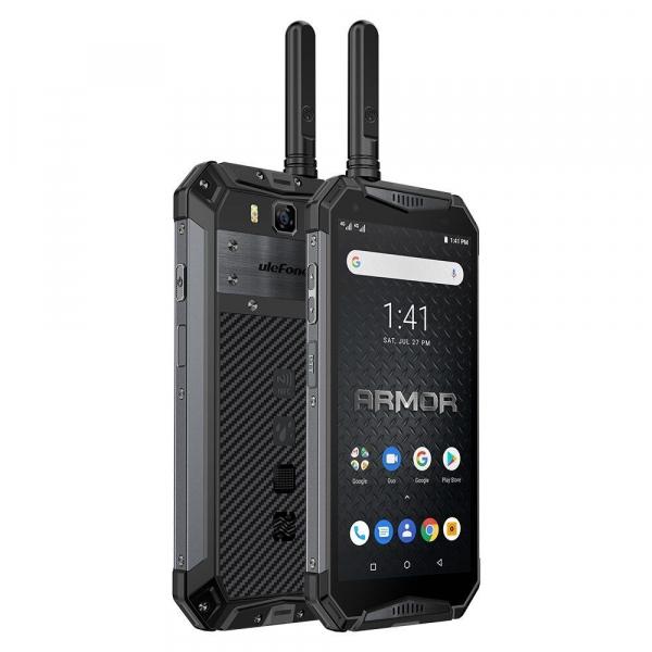 """Telefon mobil Ulefone Armor 3WT, IPS 5.7"""", Android 9, 6GB RAM, 64GB ROM, MediaTek Helio P70, Octa-Core, Walkie-Talkie, Dual-SIM, 10300mAh 2"""