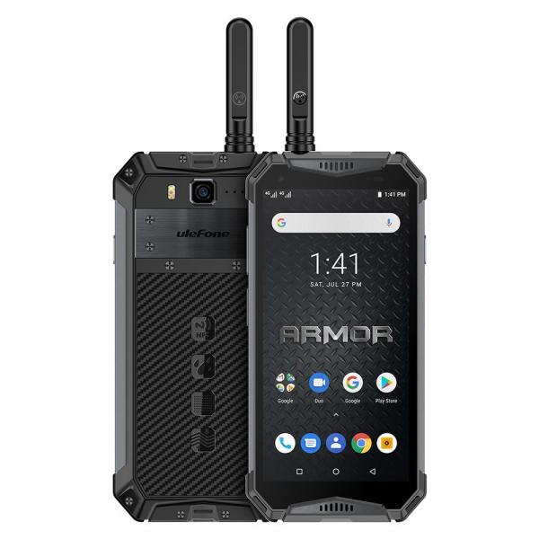 Telefon mobil Ulefone Armor 3WT, IPS 5.7 , Android 9, 6GB RAM, 64GB ROM, MediaTek Helio P70, Octa-Core, Walkie-Talkie, Dual-SIM, 10300mAh imagine dualstore.ro 2021