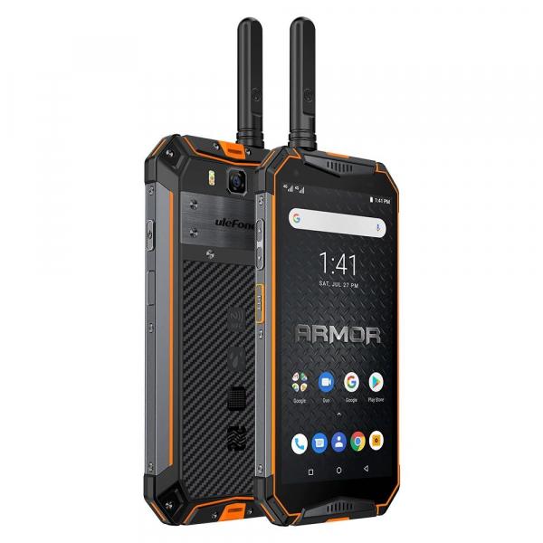 """Telefon mobil Ulefone Armor 3WT, IPS 5.7"""", Android 9, 6GB RAM, 64GB ROM, MediaTek Helio P70, Octa-Core, Walkie-Talkie, Dual-SIM, 10300mAh 6"""