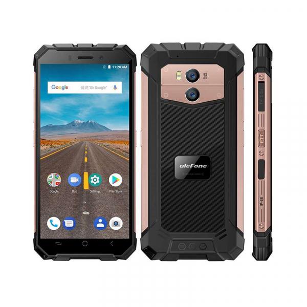 Telefon mobil Ulefone Armor X 4G, Waterproof IP68, 2GB RAM 16GB ROM, Quad Core, 5.5 inch, Amprenta, Android 8.1, Camera dubla, DualSim 3