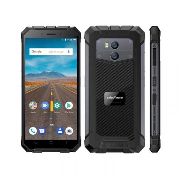 Telefon mobil Ulefone Armor X 4G, Waterproof IP68, 2GB RAM 16GB ROM, Quad Core, 5.5 inch, Amprenta, Android 8.1, Camera dubla, DualSim 2