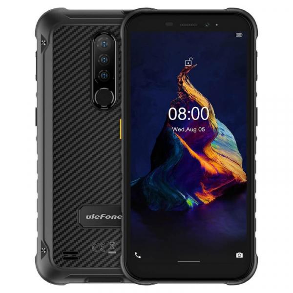 Telefon mobil Ulefone Armor X8 Negru, 4G, IPS 5.7 , 4GB RAM, 64GB ROM, Android 10, Helio A25 OctaCore, NFC, 5080mAh, Dual SIM