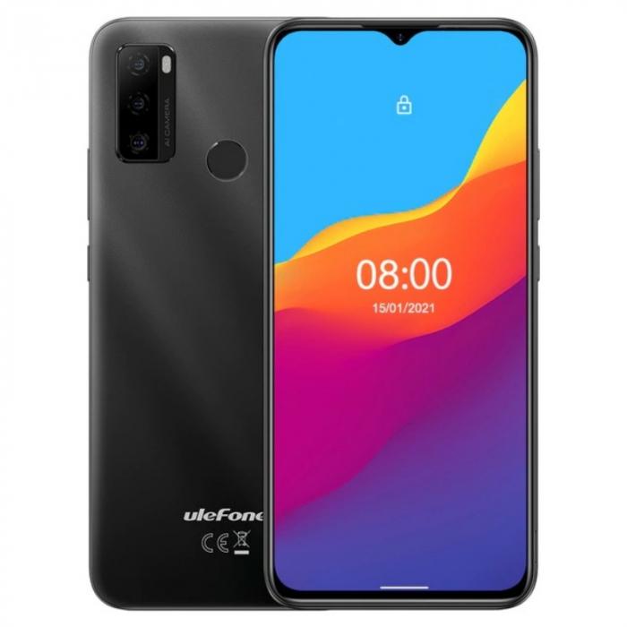 Telefon mobil Ulefone Note 10 Negru, 4G, Waterdrop 6.52 , 2GB RAM, 32GB ROM, Android 11 GO, Unisoc SC9863A OctaCore, 5500mAh, Dual SIM imagine dualstore.ro 2021