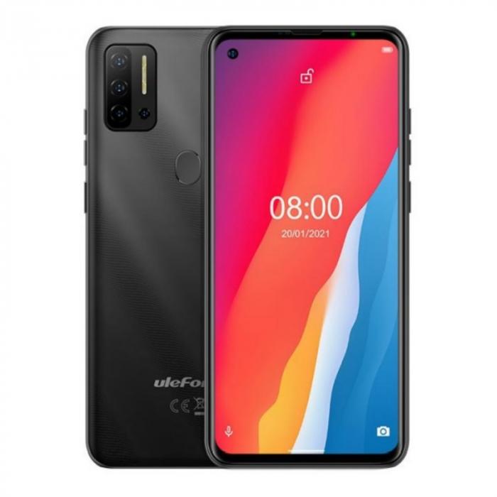 Telefon mobil Ulefone Note 11P Negru, 4G, 6.55 FullView perforat, 8GB RAM, 128GB ROM, Android 11, Helio P60 OctaCore, 4400mAh, Dual SIM imagine dualstore.ro 2021