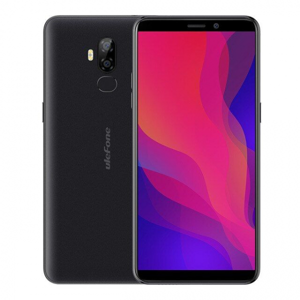 Telefon mobil Ulefone P6000 Plus, Android 9.0, 3GB RAM, 32GB ROM, 6.0 Inch 18:9 HD+, MT6739 OuadCore, 6350mAh, Face ID 4